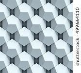 geometrical abstract seamless... | Shutterstock . vector #499664110