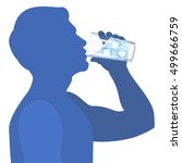 man drink water. concept of... | Shutterstock .eps vector #499666759