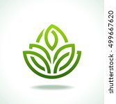 green leaf vector icon. | Shutterstock .eps vector #499667620