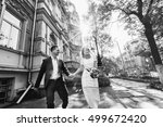black and white photo of... | Shutterstock . vector #499672420