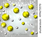 christmas invitation with... | Shutterstock .eps vector #499675570