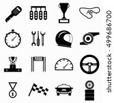 race icons set. simple... | Shutterstock .eps vector #499686700