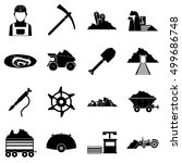 miner icons set. simple... | Shutterstock .eps vector #499686748