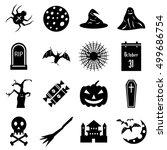 haloween icons set. simple...