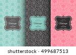 retro chic pattern background.... | Shutterstock .eps vector #499687513