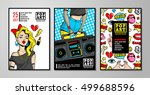 set of vector cards and banners ... | Shutterstock .eps vector #499688596