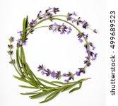 Round Wreath Of Lavender...