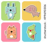 pet cartoon | Shutterstock .eps vector #499690306