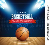 basketball tournament  modern... | Shutterstock .eps vector #499691134