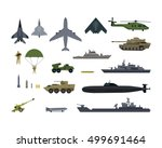 military resources army icons... | Shutterstock .eps vector #499691464