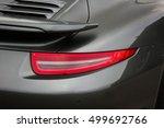Car Lights. Gray Car. Luxury...