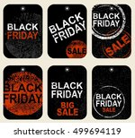 set of tags. black friday sale... | Shutterstock .eps vector #499694119