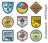 army jet  aviation  air force... | Shutterstock .eps vector #499702663