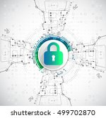 protection concept. protect... | Shutterstock .eps vector #499702870