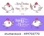happy new year and merry... | Shutterstock .eps vector #499703770