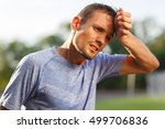 tired exercise and heat sporty... | Shutterstock . vector #499706836