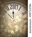 2017 new year sepia background...   Shutterstock .eps vector #499713784