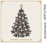 Christmas Tree. Vintage...
