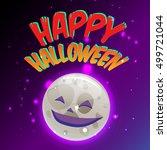 happy halloween for invitation... | Shutterstock .eps vector #499721044