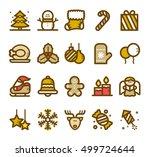 vector illustration   christmas ... | Shutterstock .eps vector #499724644