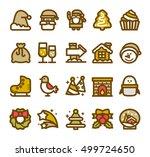 vector illustration   christmas ... | Shutterstock .eps vector #499724650