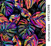 tropical seamless vector... | Shutterstock .eps vector #499732498