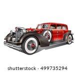 vintage car | Shutterstock .eps vector #499735294