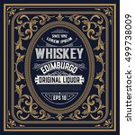 whiskey label with old frames | Shutterstock .eps vector #499738009