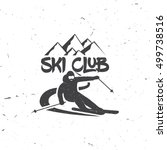 ski club concept with skier who ... | Shutterstock .eps vector #499738516