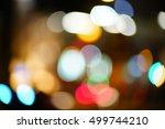 city light bokeh | Shutterstock . vector #499744210