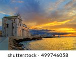 trani cathedral in the evening  ... | Shutterstock . vector #499746058