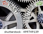 macro photo of tooth wheel... | Shutterstock . vector #499749139