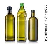 olive oil bottles on white... | Shutterstock . vector #499749880