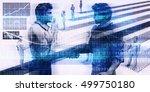 technology startup funding... | Shutterstock . vector #499750180