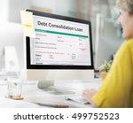 debt consolidation loan... | Shutterstock . vector #499752523