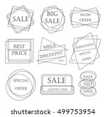 special offer sale tag discount ... | Shutterstock . vector #499753954