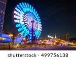 kobe   jun 6  ferris wheel of... | Shutterstock . vector #499756138