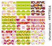 vector easter set of border ... | Shutterstock .eps vector #49975816