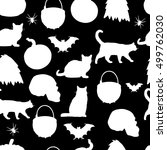 halloween.seamless pattern... | Shutterstock .eps vector #499762030