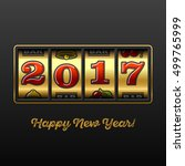 happy new year greeting card... | Shutterstock .eps vector #499765999