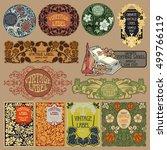 vector vintage items  label art ... | Shutterstock .eps vector #499766119
