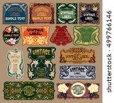 vector vintage items  label art ... | Shutterstock .eps vector #499766146