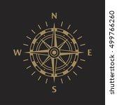 compass. wind rose | Shutterstock .eps vector #499766260