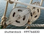Close View Of The Pulleys On A...