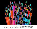 colored pencils row illustration | Shutterstock . vector #499769080