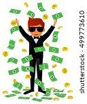 millionaire man showered by... | Shutterstock .eps vector #499773610