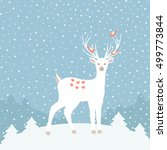 christmas background with... | Shutterstock .eps vector #499773844