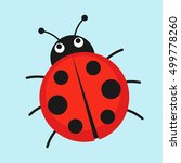 cartoon ladybug vector... | Shutterstock .eps vector #499778260