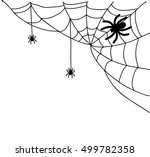 spiderweb illustration  | Shutterstock . vector #499782358