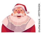 santa claus face  laughing... | Shutterstock .eps vector #499784404